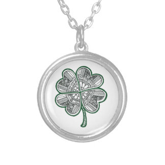 Four Leave Clover 1 Silver Plated Necklace