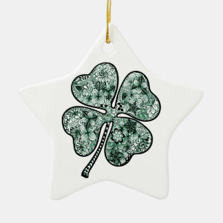 Four Leave Clover 2 Ceramic Ornament