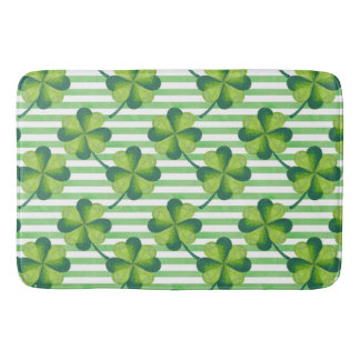 Four Leaves Clover St. Patrick's Day Pattern Bath Mat