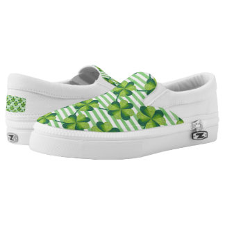Four Leaves Clover St. Patrick's Day Pattern Slip On Shoes