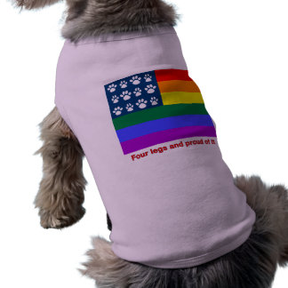Four Legs and Proud Of It (white paws) Sleeveless Dog Shirt