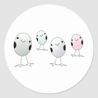 Four Little Birds Classic Round Sticker