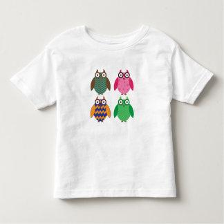 Four Little Owls Toddler T Shirt