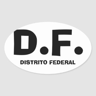 "FOUR Mexico City ""D.F."" Oval Sticker"