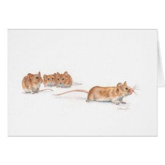 Four Mice Card