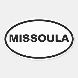 FOUR Missoula, Montana Oval Sticker