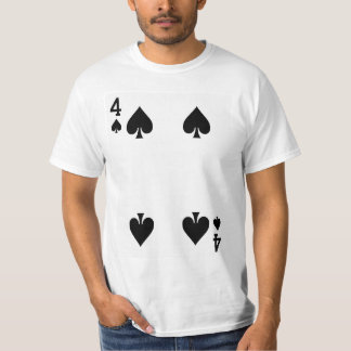 Four of Spades Playing Card T-Shirt