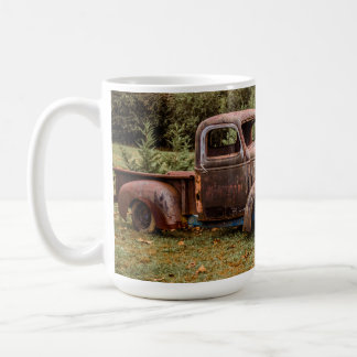 Four Old Trucks Coffee Mug