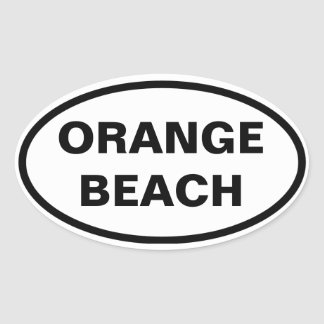 FOUR Orange Beach, Alabama Oval Sticker