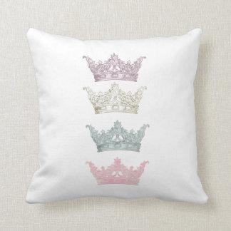 Four Pastel Crowns Cushion