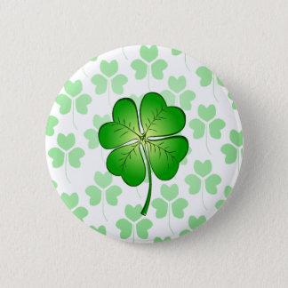 Four petal Clover for Luck 6 Cm Round Badge