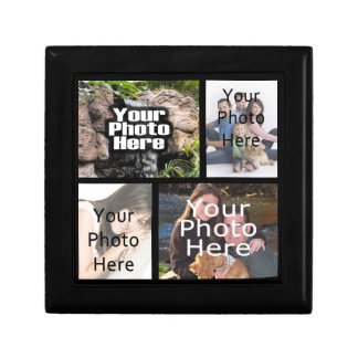 Four Photo Collage Keepsake Gift Trinket Box