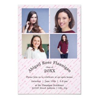 Four Photos Collage Arrows-3x5 Grad Announcement