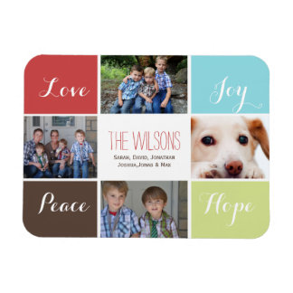 four photos collage custom magnets