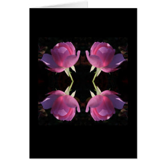 Four Pink Roses Card