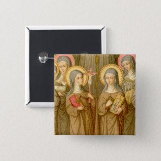Four Poor Clare Saints (SAU 027) Square 15 Cm Square Badge