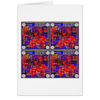 Four Printed Circuit Boards (PCB) Card