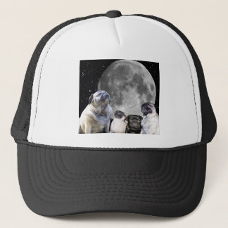 Four Pug Moon Trucker Hat