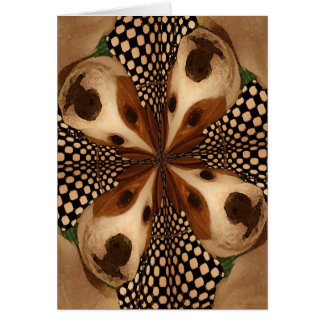 Four Pups Kaleidoscope Greeting Card