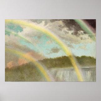 Four Rainbows over Niagara Poster
