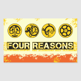 Four Reasons To Protect The Earth Rectangle Stickers