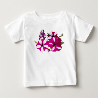 Four Red and White Petunias Baby T-Shirt