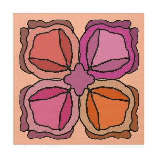 Four Roses Wood Wall Art