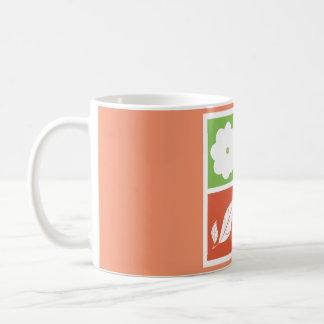 Four season in flat design basic white mug