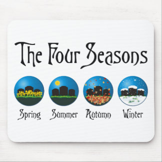 Four Seasons At The Cemetery Mouse Pad