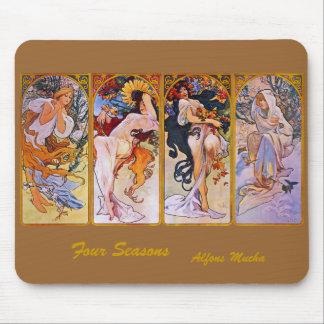 Four Seasons by Alfons Mucha Mouse Pad