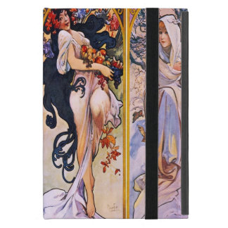 Four Seasons by Alphonse Mucha 1895 Cover For iPad Mini