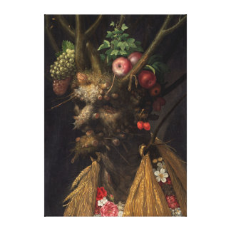 Four Seasons in One Head by Giuseppe Arcimboldo Canvas Print