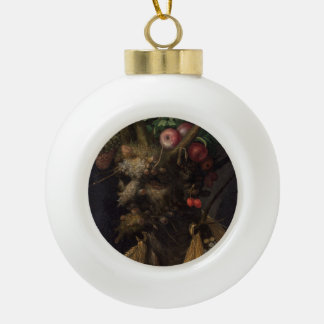 Four Seasons in One Head - Giuseppe Arcimboldo Ceramic Ball Decoration