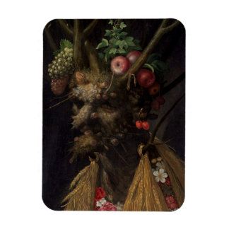 Four Seasons in the One Head, c.1590 2 Rectangular Photo Magnet