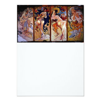 Four Seasons Personified by Women 14 Cm X 19 Cm Invitation Card