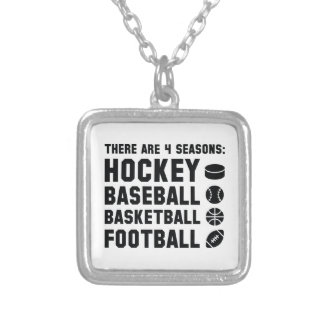 Four Seasons Sports Silver Plated Necklace