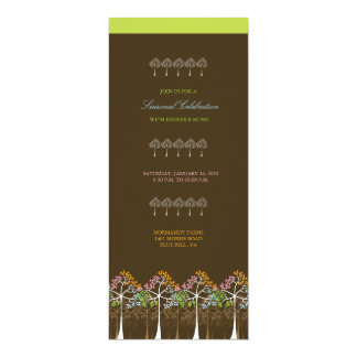 Four Seasons Trees Forest Dinner Party Invite