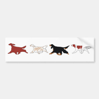 Four Setters Bumper Stickers