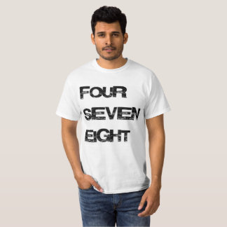 Four Seven Eight Area Code Shirt