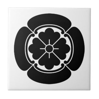 Four side Japanese quince Ceramic Tile