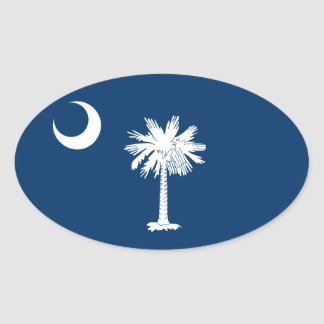 FOUR South Carolina Flag Oval Sticker