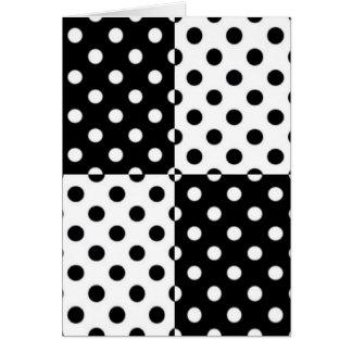 Four Square Polkadots Design Card