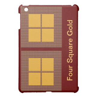 Four Squares Gold iPad Mini Cover