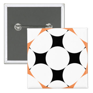Four Star Circle by Kenneth Yoncich 15 Cm Square Badge