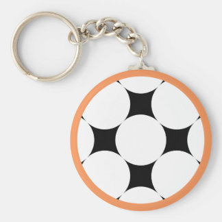 Four Star Circle by Kenneth Yoncich Basic Round Button Key Ring
