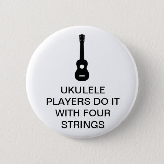 Four Strings 6 Cm Round Badge