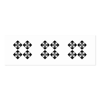 Four Stylish Black Flowers. On White. Pack Of Skinny Business Cards