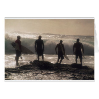 Four Surfers Card