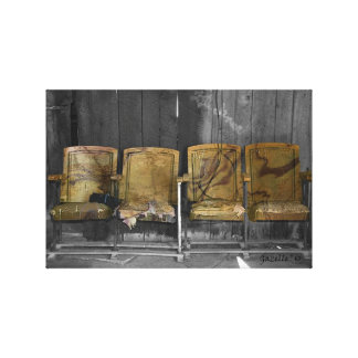 Four Theater Seats Canvas Print