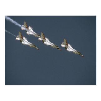 Four Thunderbird Jets In A Dive Postcard